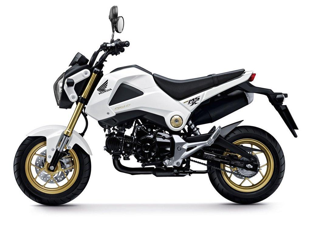 White Gold Honda MSX 125 - Taking my CBT with Honda School Of Motorcycling - White Gold Honda MSX 125