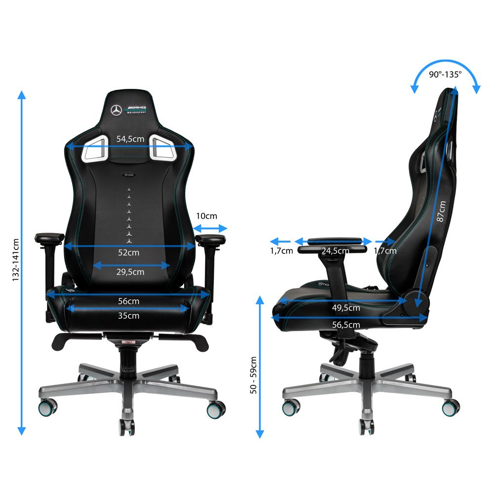 Noblechairs Epic Mercedes AMG Petronas Office Chair Angles carwitter - Noblechairs Mercedes-AMG Petronas F1 Office Chair Review - Noblechairs Epic Mercedes-AMG Petronas Office Chair Angles - carwitter