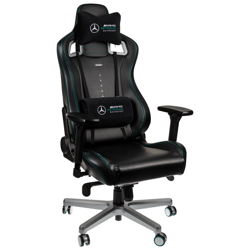 Noblechairs Epic Mercedes AMG Petronas Office Chair Cushions carwitter - Noblechairs Mercedes-AMG Petronas F1 Office Chair Review - Noblechairs Epic Mercedes-AMG Petronas Office Chair Cushions - carwitter
