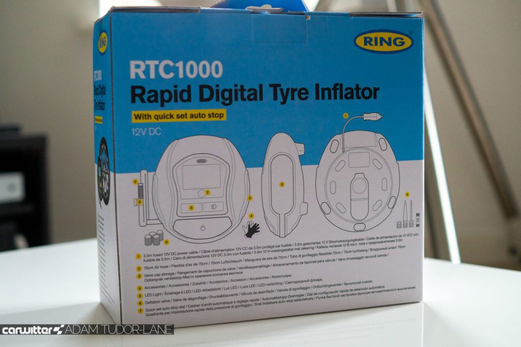 Ring RTC1000 Rapid Digital Tyre Inflator Review 007 carwitter 1024x681 - Ring RTC1000 Rapid Digital Tyre Inflator Review - Ring RTC1000 Rapid Digital Tyre Inflator Review
