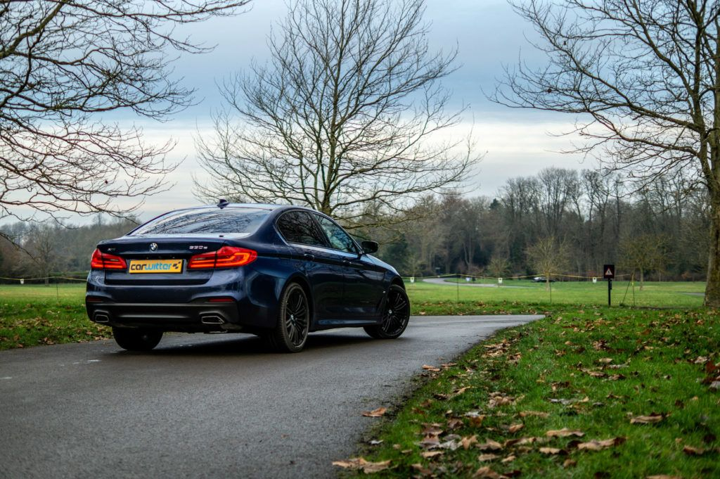 2019 BMW 530e xDrive Review Review Rear Angle Far carwitter 1024x681 - BMW 530e xDrive plug-in hybrid review - BMW 530e xDrive plug-in hybrid review