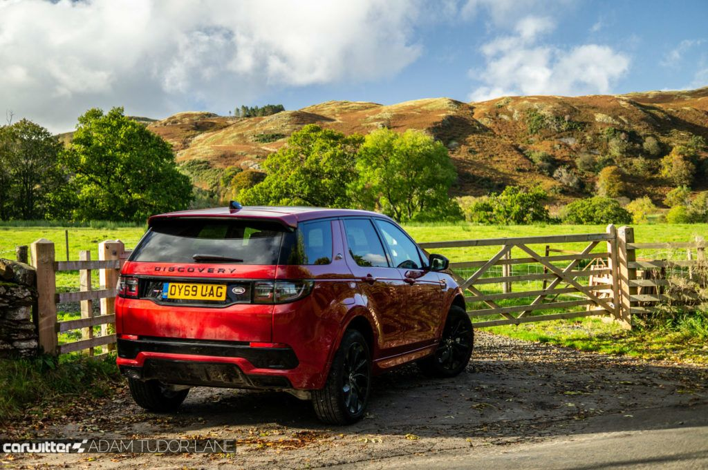 2019 Land Rover Discovery Sport Review Rear Angle Scene carwitter 1024x681 - Land Rover Discovery Sport Review - Land Rover Discovery Sport Review