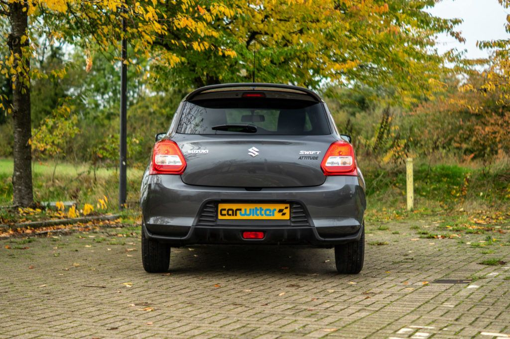 2019 Suzuki Swift Attitude Review Rear Far carwitter 1024x681 - Suzuki Swift Attitude Review (2019) - Suzuki Swift Attitude Review (2019)