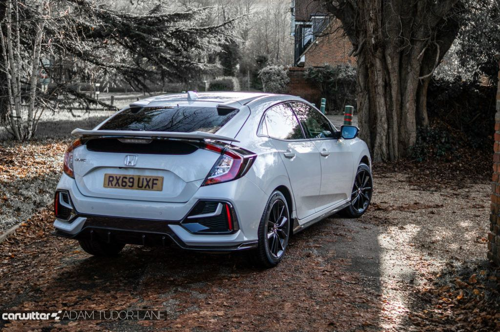 2020 Honda Civic Sport Line Review Rear Angle carwitter 1024x681 - Honda Civic Sport Line Review - Honda Civic Sport Line Review