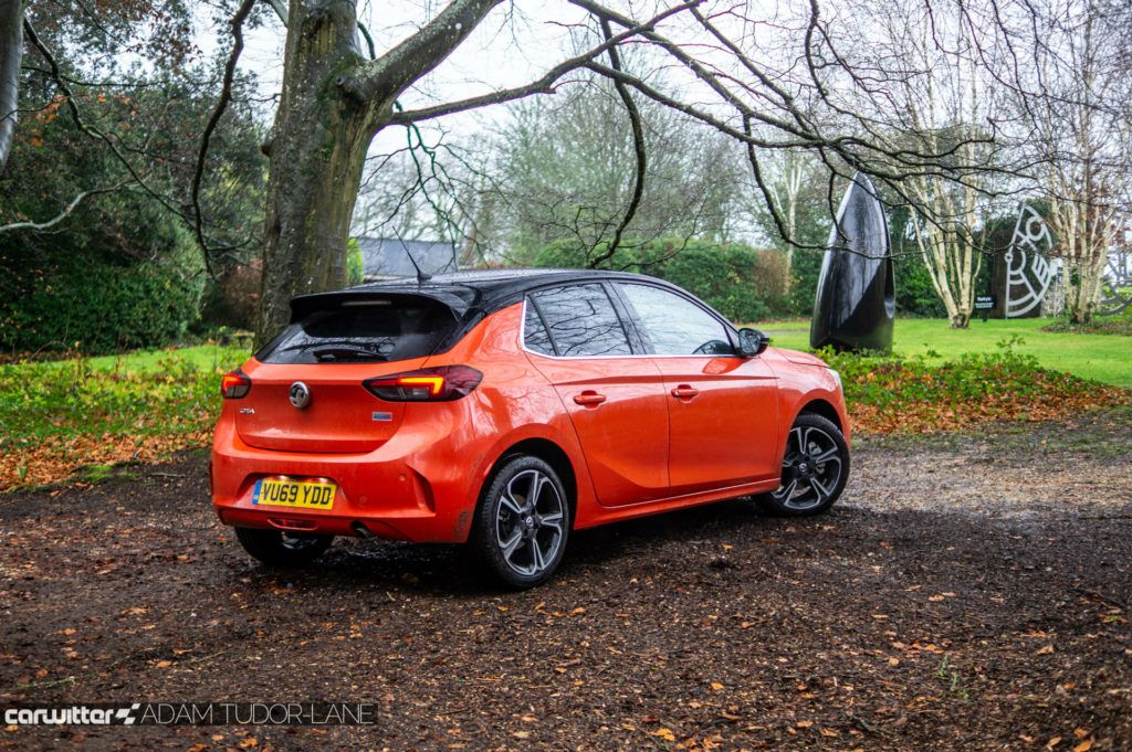 2020 Vauxhall Corsa SRi Review Rear Angle carwitter 1024x681 - Vauxhall Corsa SRi Review - Vauxhall Corsa SRi Review