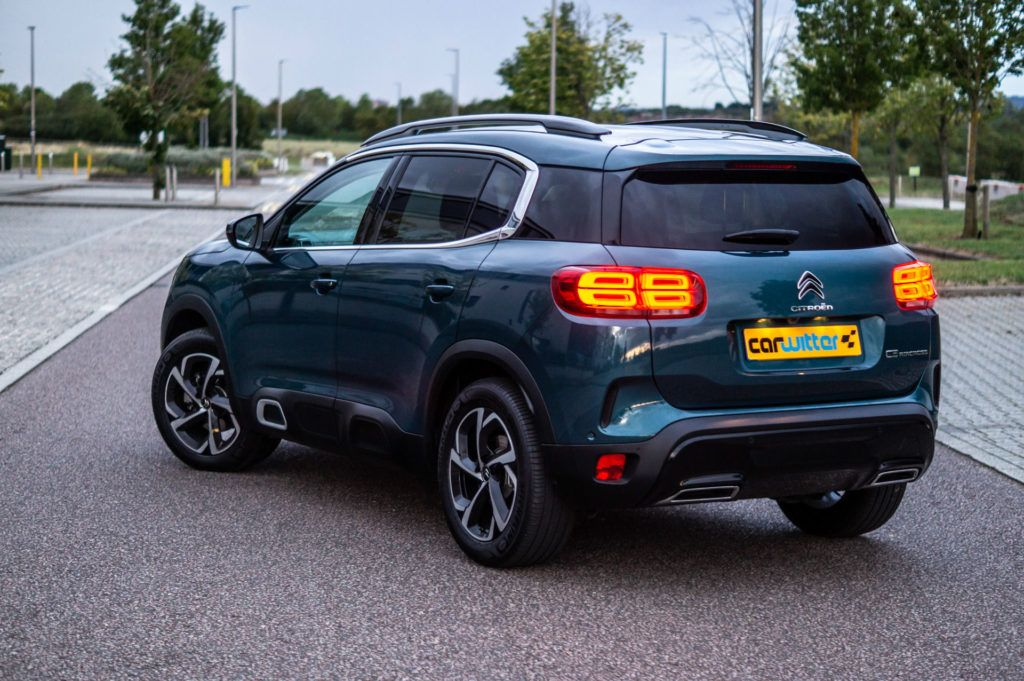 Citroen C5 Aircross Review Rear Angle Close carwitter 1024x681 - Citroen C5 Aircross Review - Citroen C5 Aircross Review