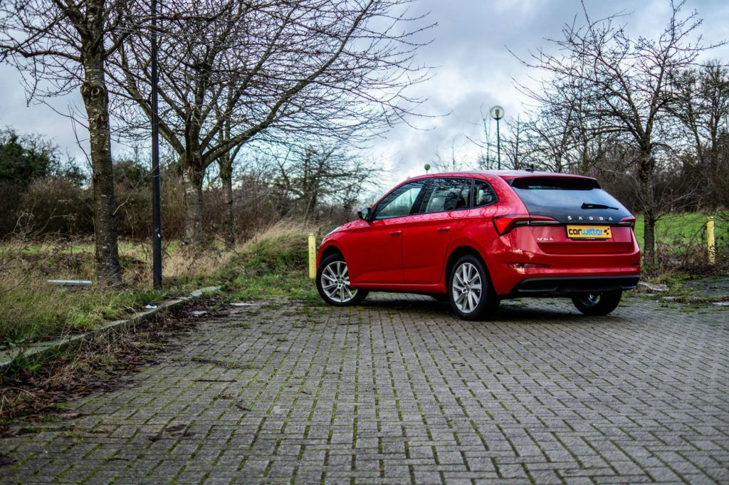 Skoda Scala SE Review Rear Angle Low carwitter 1024x681 - How To Choose The Right Car For Your Family - How To Choose The Right Car For Your Family