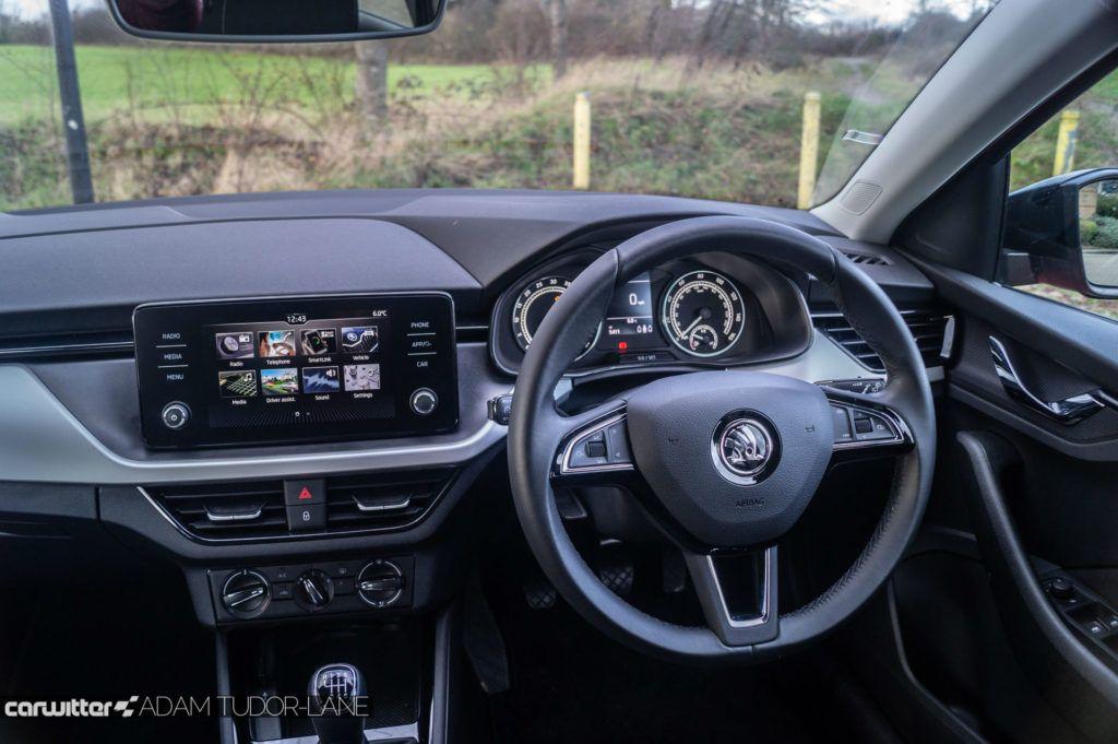 Skoda Scala SE Review Steering Wheel carwitter 1024x681 - Skoda Scala SE Review - Skoda Scala SE Review
