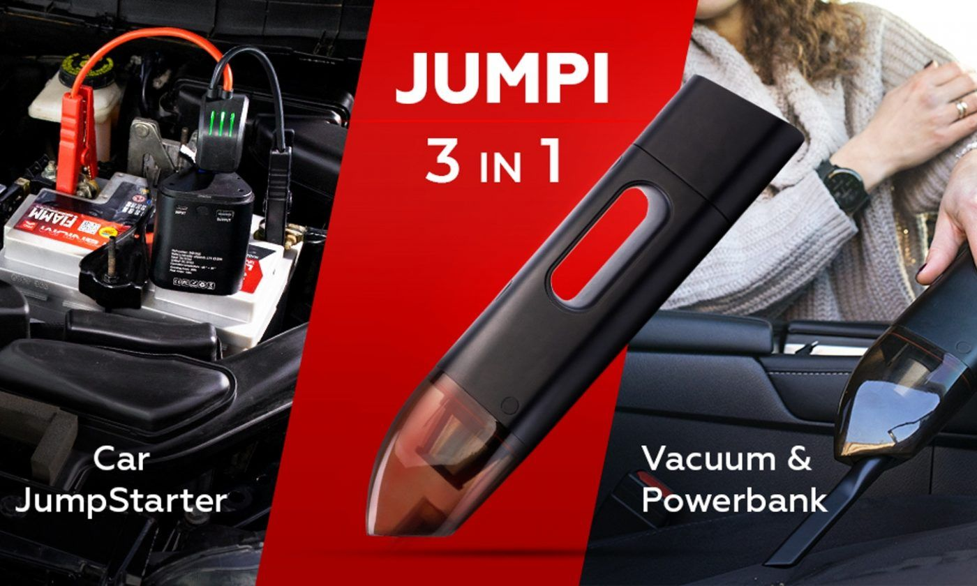 Jumpi Image 1 1400x840 - Jumpi is The Cordless Car Vacuum That Could Save Your Life (And Your Car) - Jumpi is The Cordless Car Vacuum That Could Save Your Life (And Your Car)