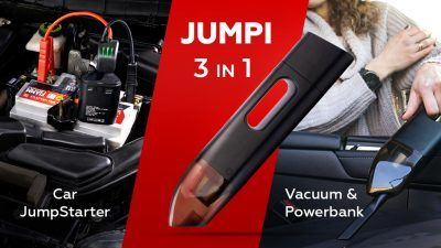 Jumpi Image 1 400x225 - Jumpi is The Cordless Car Vacuum That Could Save Your Life (And Your Car) - Jumpi is The Cordless Car Vacuum That Could Save Your Life (And Your Car)
