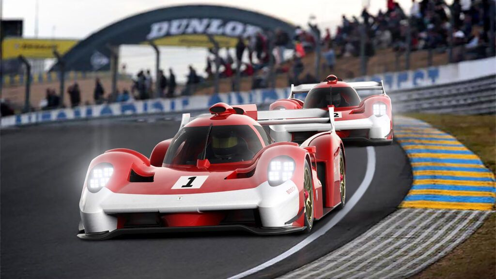 Glickenhaus 007 track render xYuhFN 1024x576 - Glickenhaus 007 Le Mans hypercar to receive twin-turbocharged V8 | Evo - Glickenhaus 007 Le Mans hypercar to receive twin-turbocharged V8 | Evo