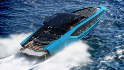 Tecnomar for Lamborghini 63 4 jVC6aT 400x225 - Tecnomar launches 4000hp V12 Lamborghini yacht | Evo - Tecnomar launches 4000hp V12 Lamborghini yacht | Evo
