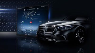 New 2020 Mercedes S class teased rrpMqg 400x225 - New Mercedes S-class interior teased before reveal | Evo - New Mercedes S-class interior teased before reveal | Evo